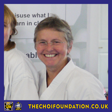Sue Middleton. Assistant Instructor, The Choi Foundation, Brighton, Martial Arts and Self-defence
