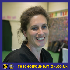Sarahjane Jackson. Assistant Instructor, The Choi Foundation, Brighton, Martial Arts and Self-defence