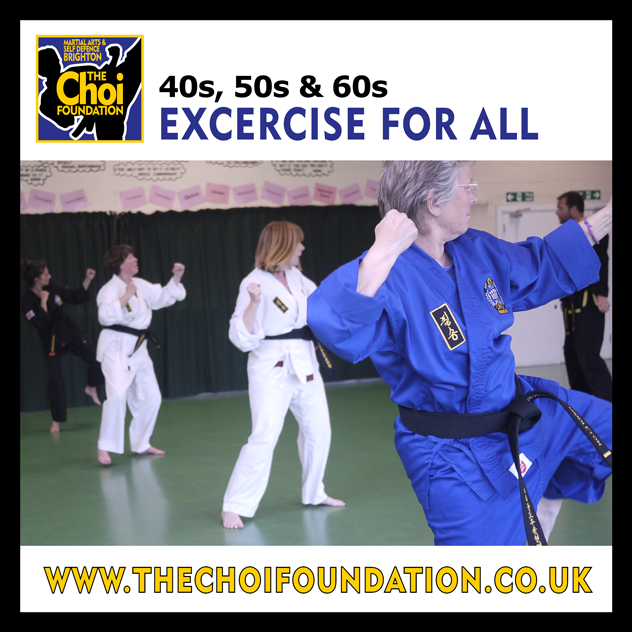Students in their 40s, 50s & 60s Martial Art and Self-defence in Brighton at The Choi Foundation