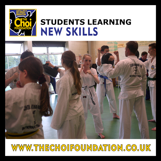 Students learning new skills at Martial Art and Self-defence in Brighton at The Choi Foundation