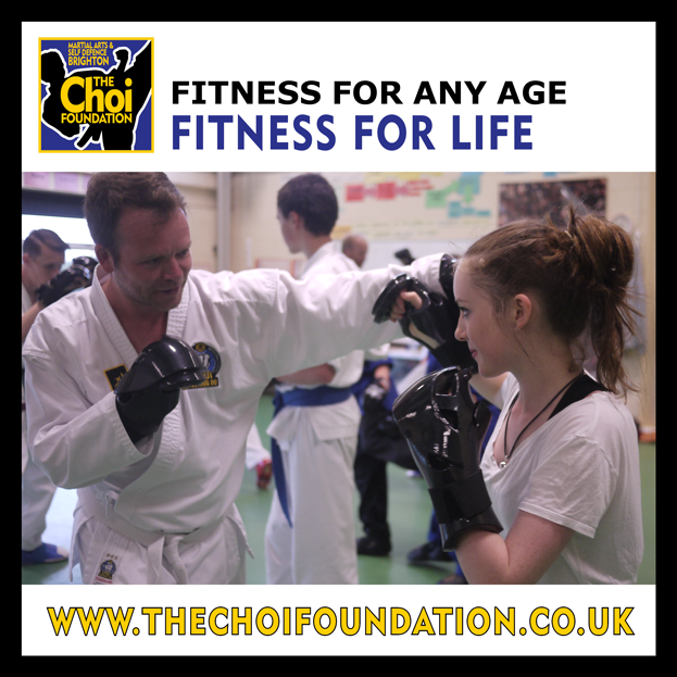 Fitness for any age. Fitness for life at Brighton Marital Arts and Self-defence classes, The Choi Foundation, Robert Tanswell