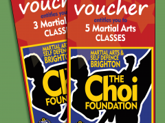 Gift Vouchers for The Choi Foundation Martial Arts & Self-defence classes Brighton