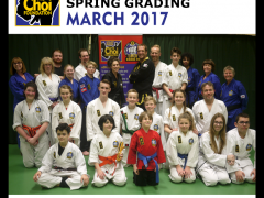 Spring grading at The Choi Foundation Martial Arts classes, Brighton