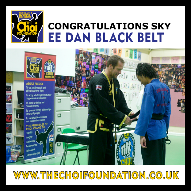 EE Dan Black Belt grading at The Choi Foundation Martial Arts classes, Brighton