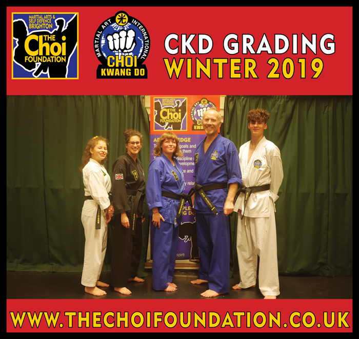 Grading Students at Brighton Martial Arts and Self-defence fitness classes, The Choi Foundation, Dorothy Stringer Sports Complex, Robert Tanswell